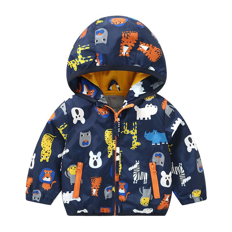 男童冲锋风衣外套加绒秋冬秋装春秋童装儿童宝宝小童洋气婴儿1岁3