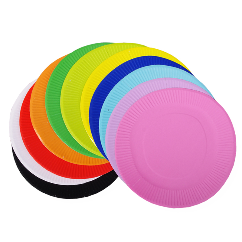 19CM圆形彩色纸盘DIY手工材料儿童美工材料 大毛毛虫材料包