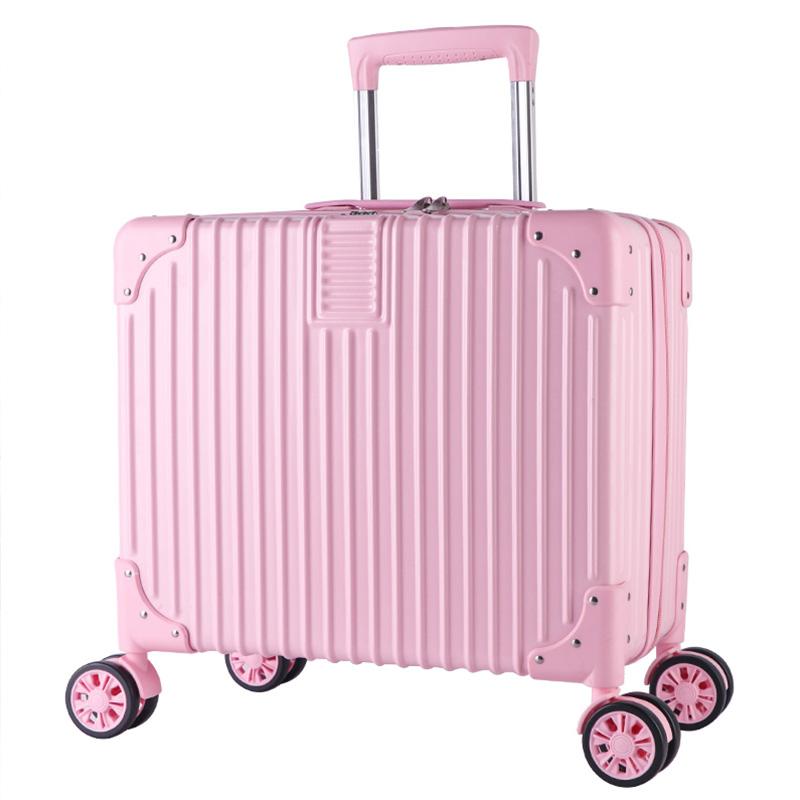 寸旅行箱万向轮密码箱小型登机箱潮 18 复古小行李箱男女韩版拉杆箱