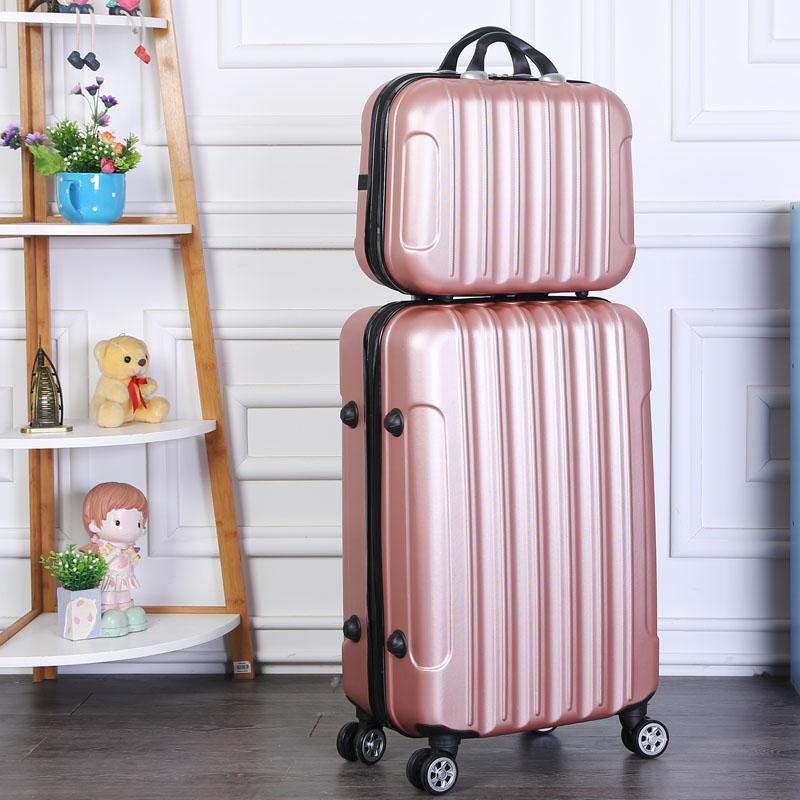 手提箱子旅行箱 14 寸万向轮拉杆箱 24 寸小行李箱女 20 寸登机箱 18 韩版