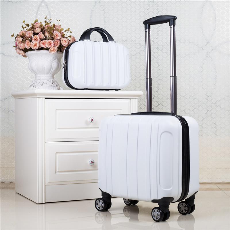 迷你登机箱17寸子母行李箱女18寸小拉杆箱万向轮旅行箱男商务箱