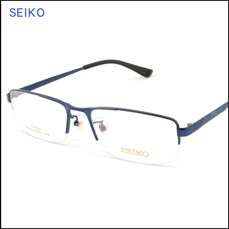 ed3c586aeb Genuine counter genuine seiko titanium frames for men and a half box myopia  frame glasses hc1010