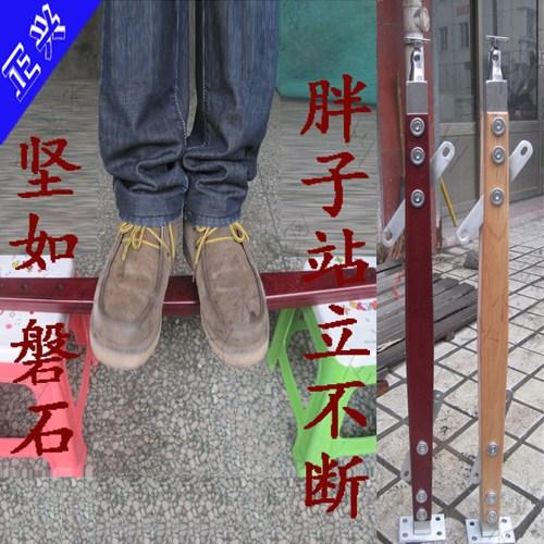 玻璃楼梯扶手栏杆\不锈钢立柱\实木立柱/棱形夹木立柱LZ3007