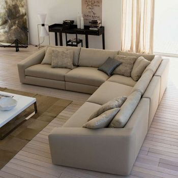 Buy Zuo shi home after modern minimalist leather sofa corner sofa ...