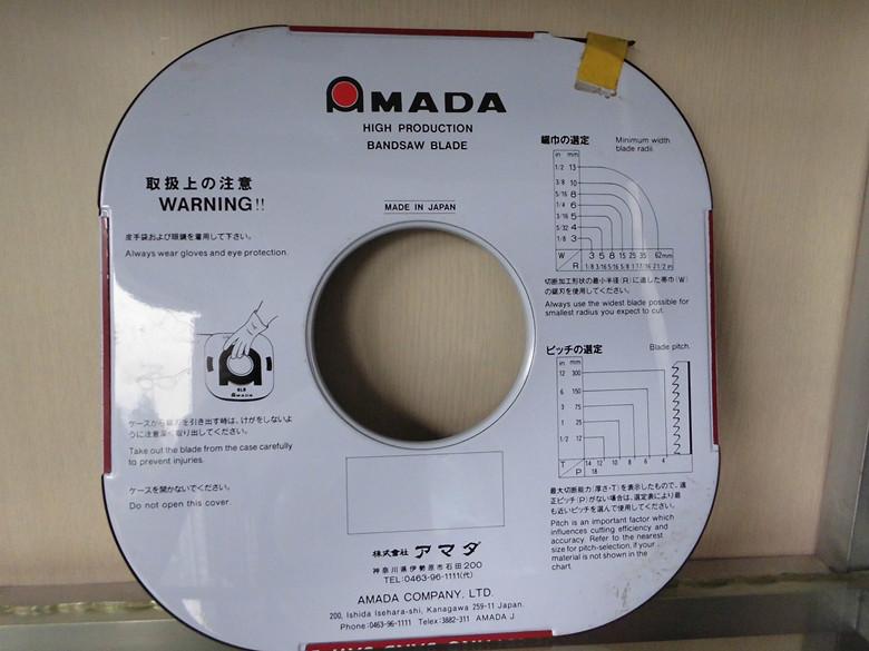 【正品】AMADA日本进口锯条 带锯条 5*12锯条 小盘带锯条 锯条