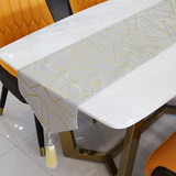 JL modern luxury light bronzing line table runners home dining table coffee table fashion living room European-style table cloth upholstery