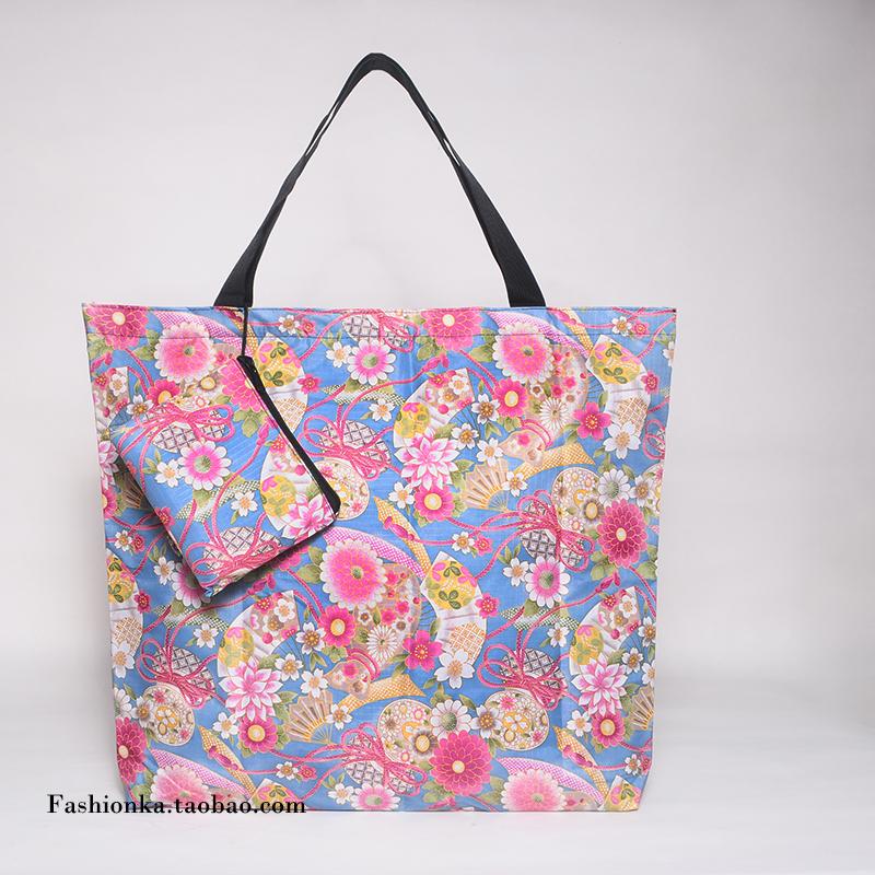 摺疊袋子便攜袋 旅行收納袋超大容量超市購物袋 單肩包女托特包