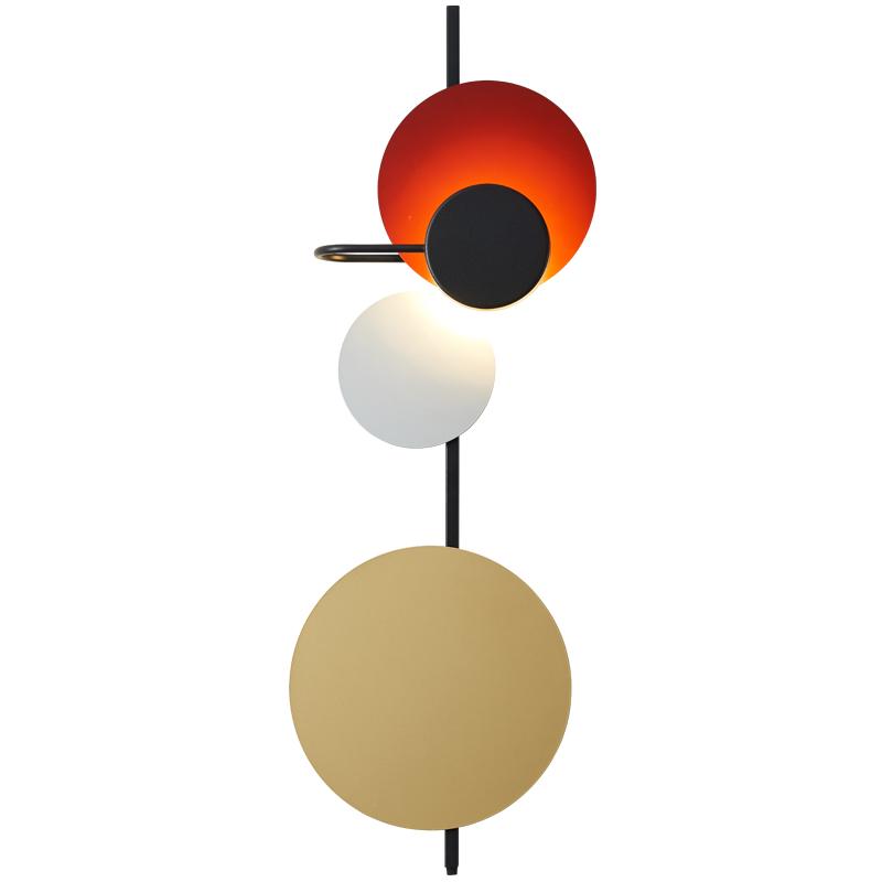 北欧铁艺圆圈壁灯现代设计师客厅装饰壁灯创意卧室床头壁灯