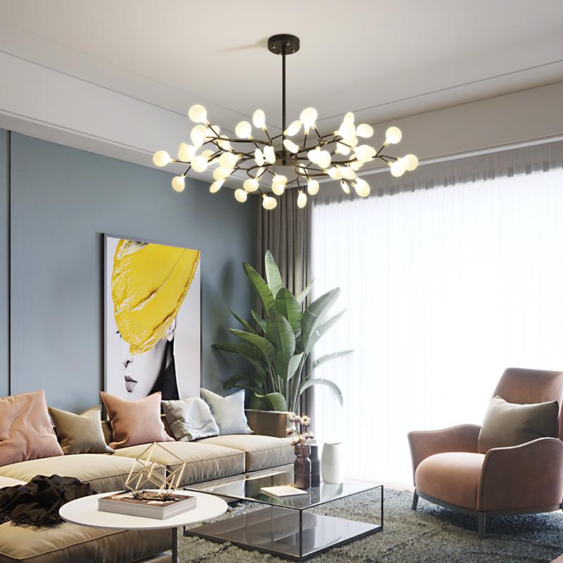年新款 2020 萤火虫吊灯网红卧室灯具现代样板房轻奢北欧风客厅灯