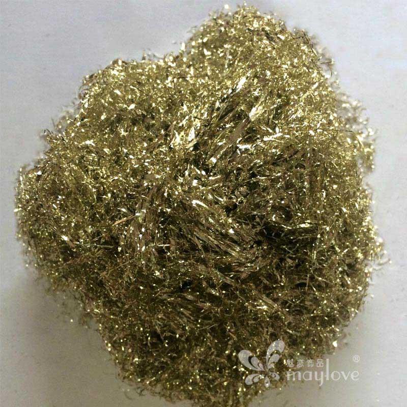 台湾金箔丝 银箔丝香槟箔丝80g艺术玻璃工艺品家具佛像装修贴箔快