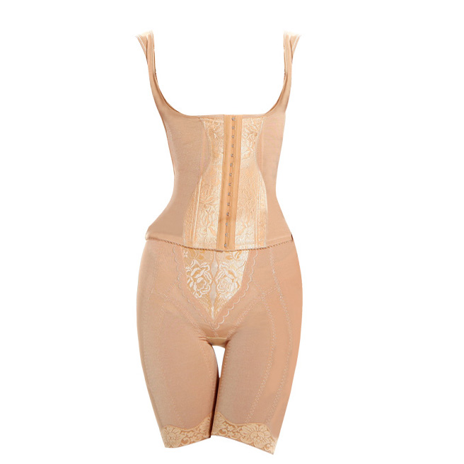 美容院分体套装收腹瘦身束腰产后束缚美体上衣背心束裤中脉塑身衣