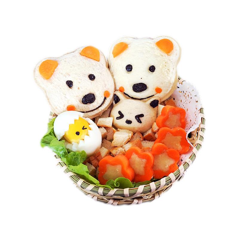日本进口早餐模具小熊三明治模具口袋面包机饭团便当三明治制作