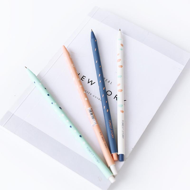 晨光加长圆珠笔0.38 0.5mm可爱创意韩国蓝色油笔极细原子笔学生用