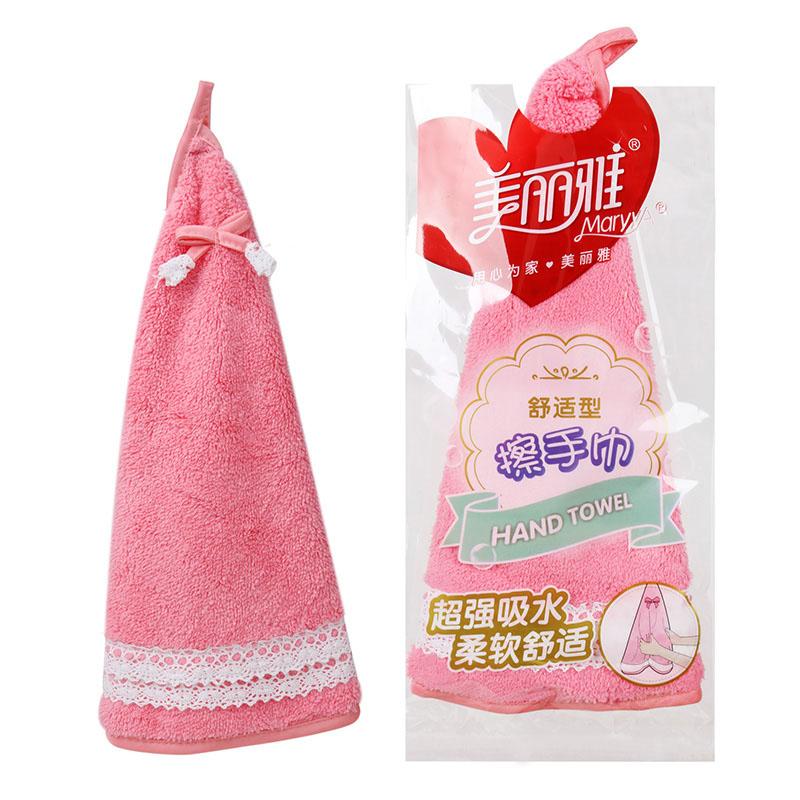 美麗雅舒適型擦手巾 超細纖維可愛吸水掛式毛巾布廚房擦手布