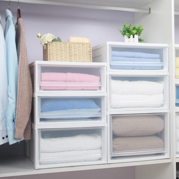 愛麗思透明塑料抽屜式收納箱內衣物收納盒整理箱愛麗絲抽屜收納櫃
