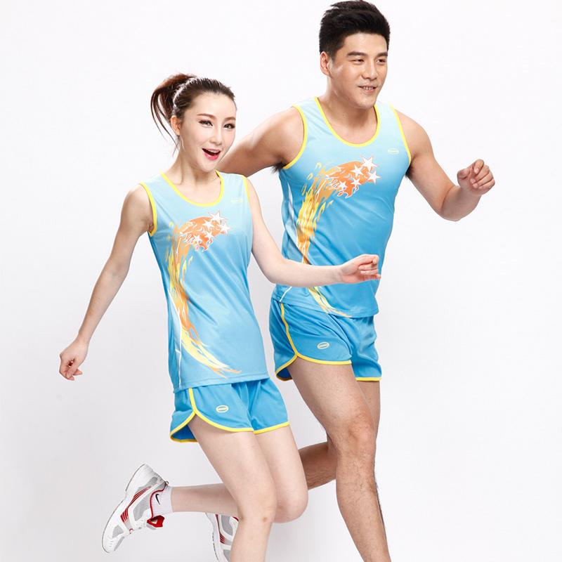 男女款田徑服訓練套裝田徑背心短褲比賽服跑步服舒適透氣可印號字