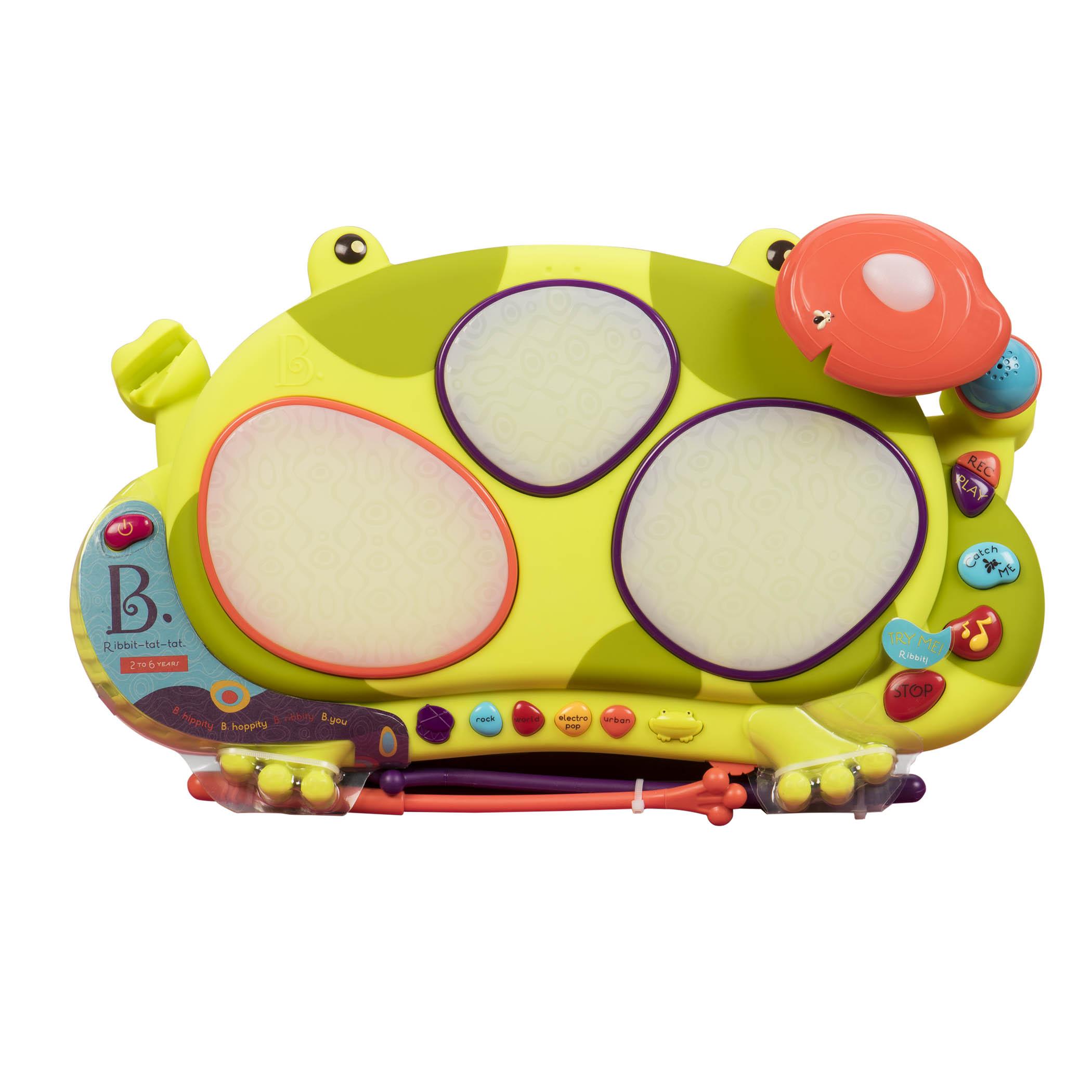 美国B.Toys青蛙鼓饶舌蛙电子鼓比乐音乐鼓打击乐器宝宝益智玩具