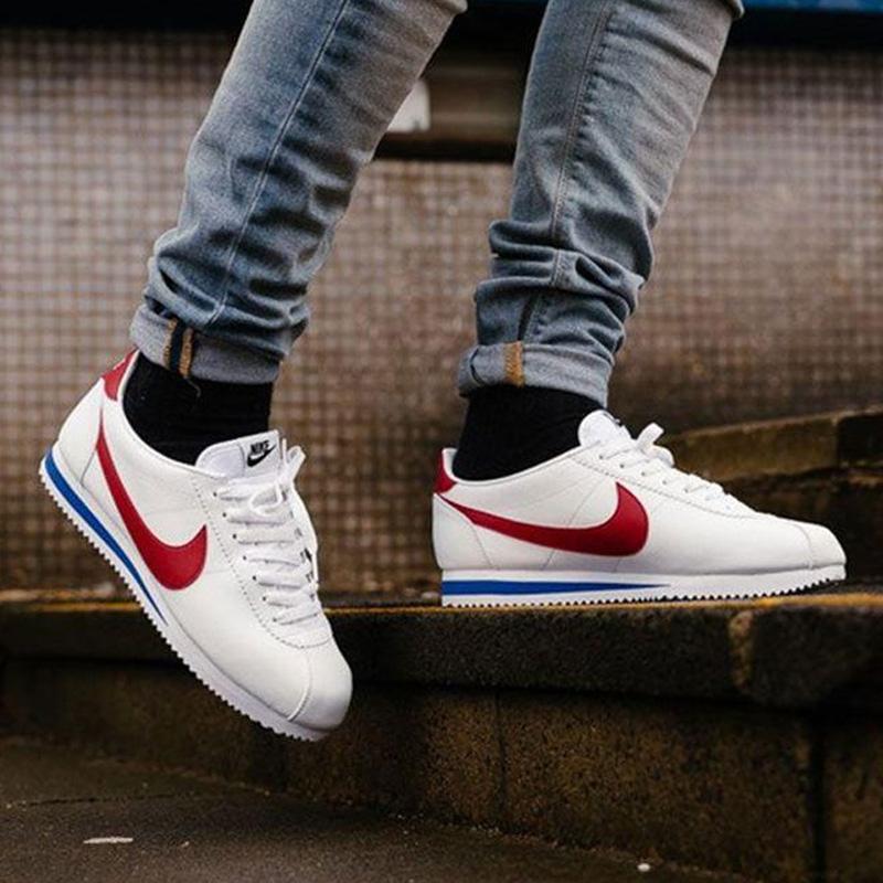 Nike耐克男鞋2019夏季新款Cortez元年阿甘紅白運動小白鞋休閒板鞋