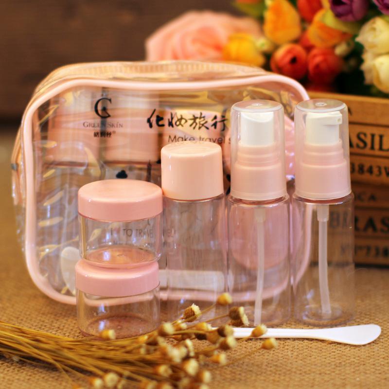 件套美容工具 6 格润丝化妆品旅行套装便携空瓶喷雾瓶按压瓶面霜瓶