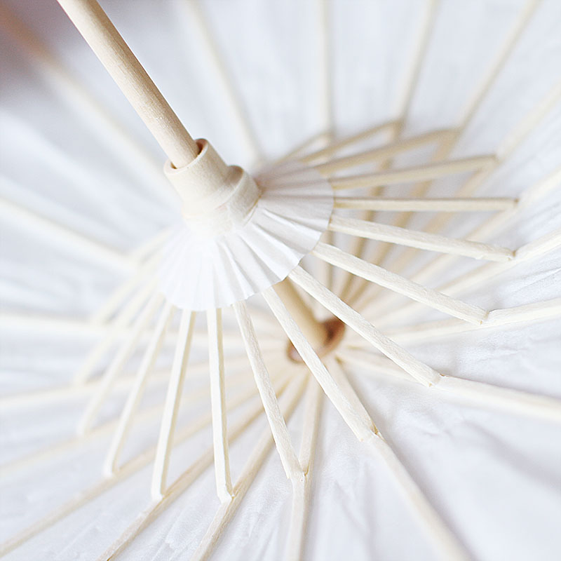 空白油纸伞diy材料儿童手工制作幼儿园中国风绘画雨伞小手绘玩具