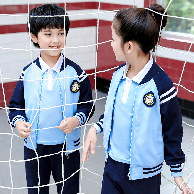 幼儿园园服春秋套装儿童时尚英伦运动风小学生校服班服三件套