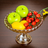 European extra large fruit plate crystal glass creative tall dried fruit plate creative modern living room fruit plate
