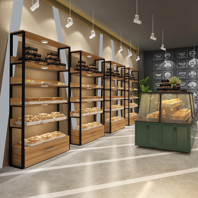创意面包柜点心架多层边柜展示架超市玩具展架零食货架包包展示柜
