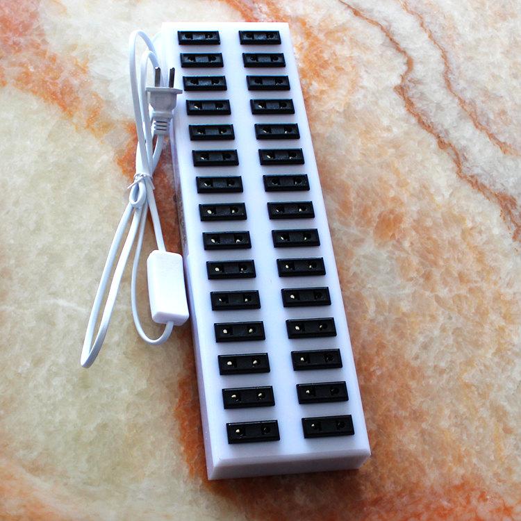 酒吧LED吧台灯充电排插 接线板插座充电器10孔30孔50位手机拖线板