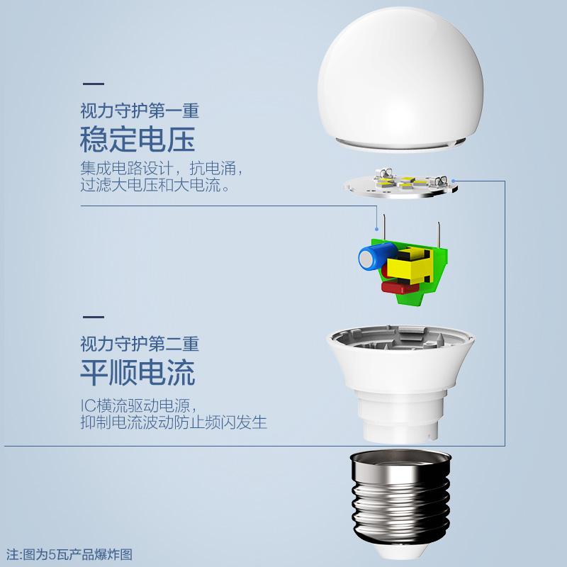 螺口球泡灯单灯照明光源超亮 e14e27 灯泡节能灯泡 led 欧普照明