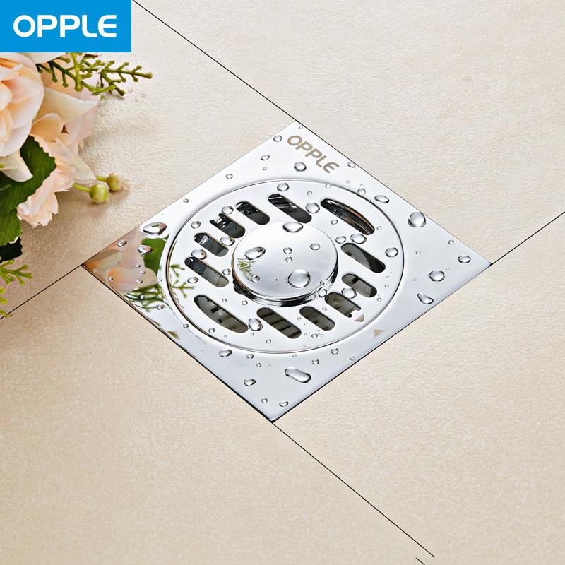 Q 厘米 10x10 不銹鋼亮光洗衣機專用防臭地漏衛生間下水道 OPPLE