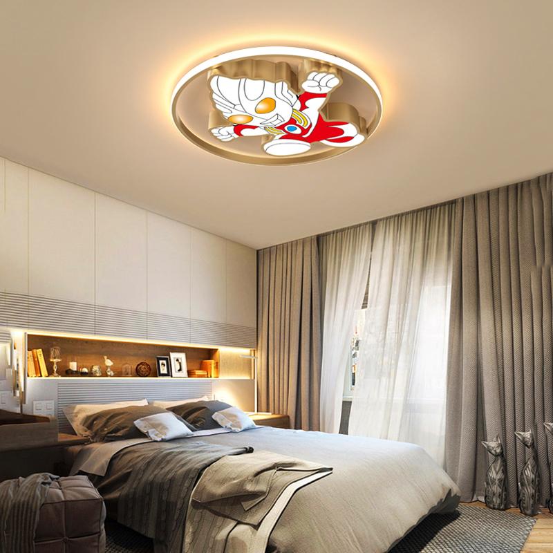 吸顶灯北欧幼儿园男孩房间卡通卧室灯 led 儿童房灯奥特曼创意护眼