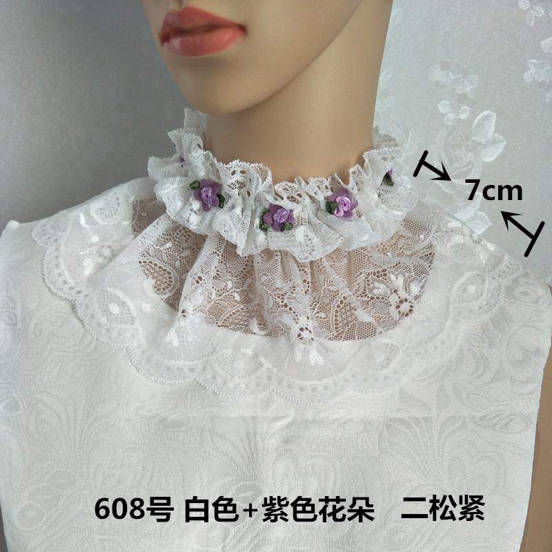 可爱美丽漂亮百搭颈环假领子复古蕾丝假领子套头女保暖围脖假高领
