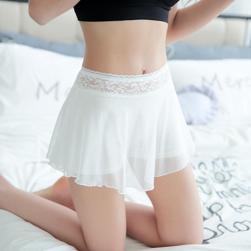 蕾丝安全裤防走光女夏保险裤三分短裤薄款裤子白色短款外穿打底裤
