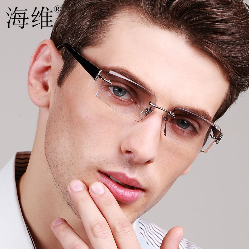 14f7494c6f Diamond trimming rimless glasses men finished with eye glasses frame color  glasses frames with plain glass spectacles hypermetropia