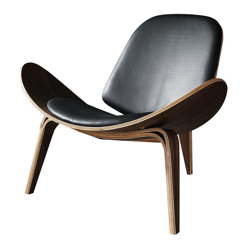 现代创意贝壳飞机椅子北欧设计师靠背单人沙发休闲椅 Shell Chair