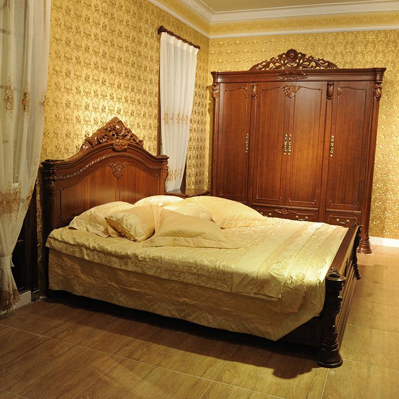 Buy Emperor Pomelo Taketh Burmese Teak Wood Bed Continental