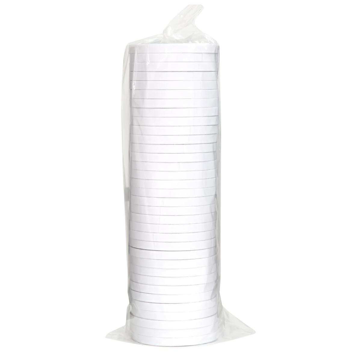 得力双面胶白色纸胶带 可手撕粘胶