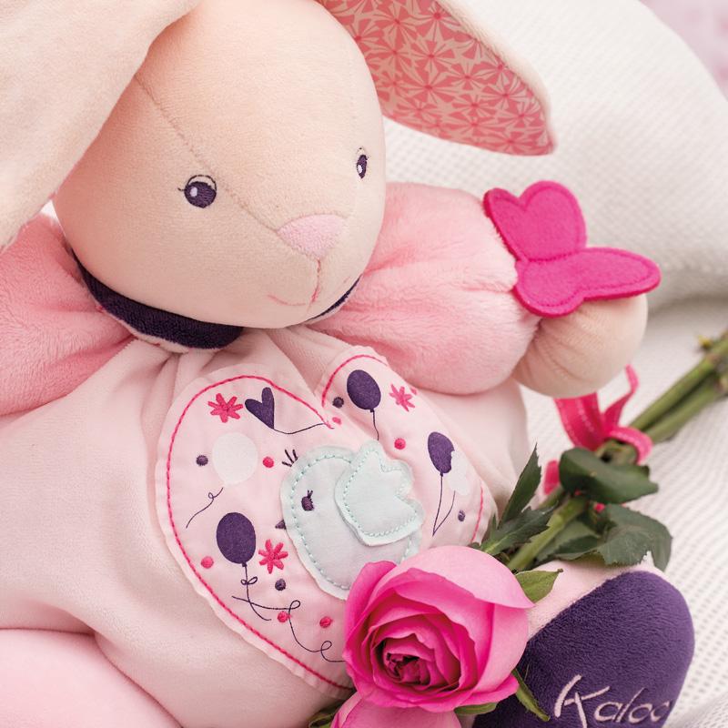 法国KALOO小熊兔子毛绒娃娃 婴儿安抚玩偶 宝宝安抚巾新年礼物