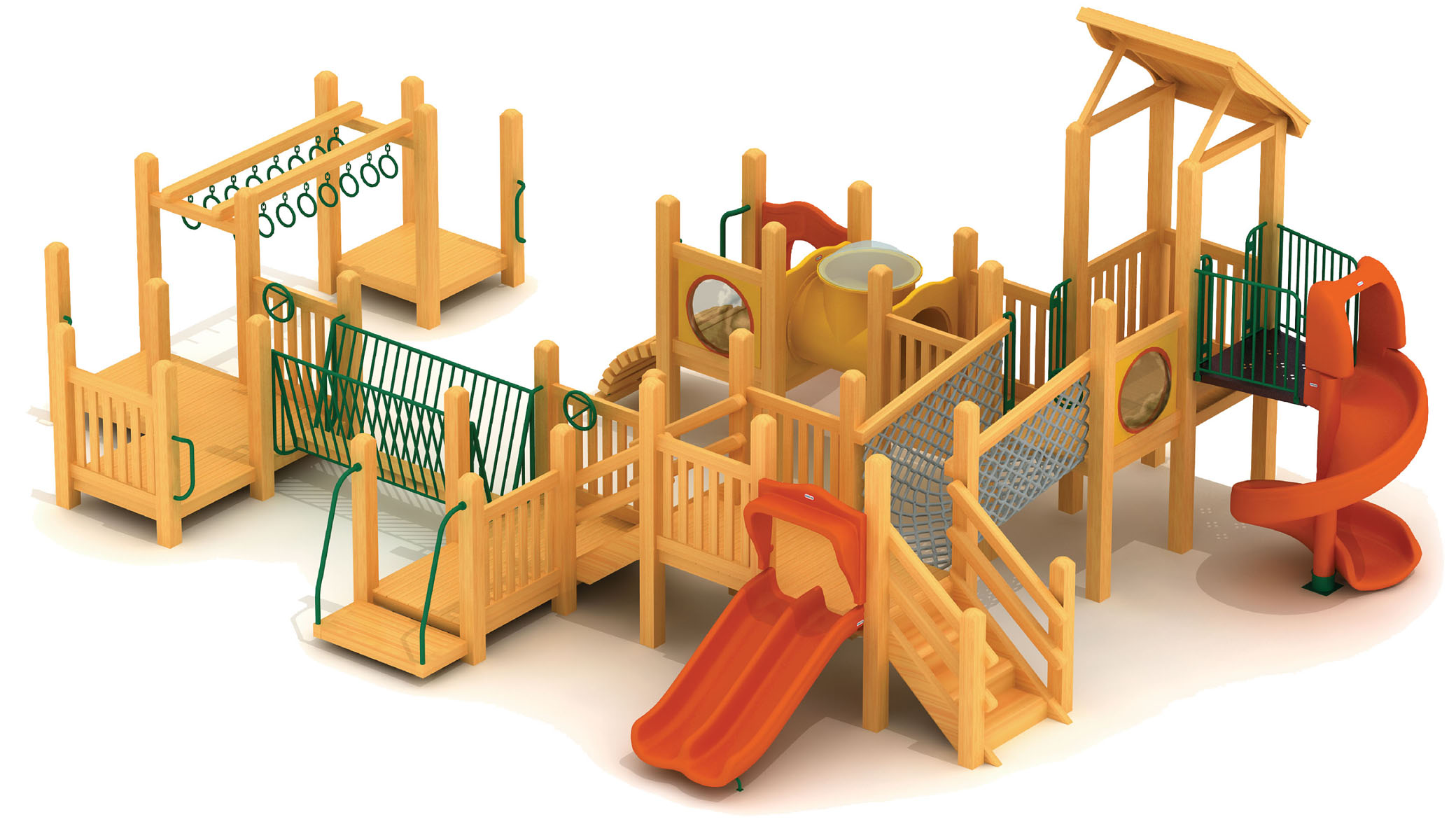 Imported Yellow Pear Wood Kindergarten Childrenu0027s Slides Residential  Outdoor Imported Wooden Playground Doctor