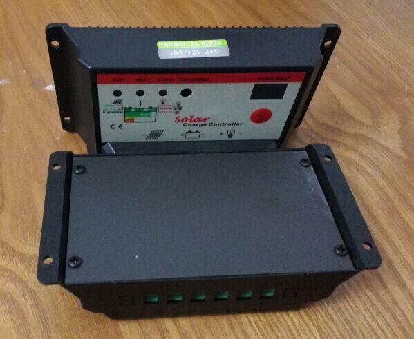 太阳能控制器12V24V10A 双数码管显示 电池充电控制器 有定时功能