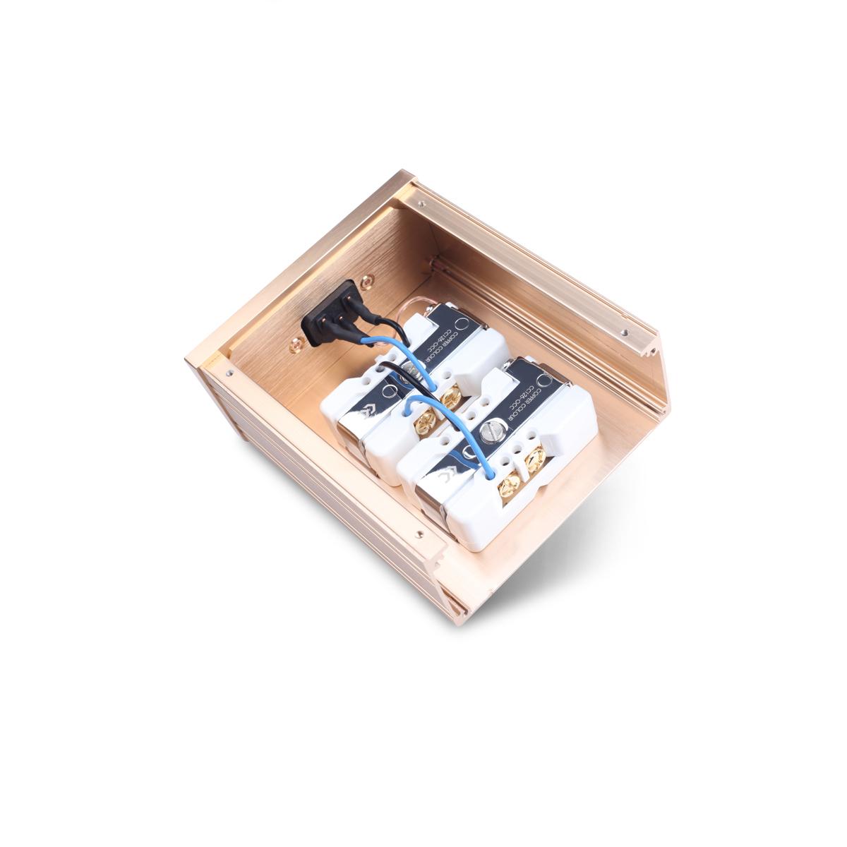CopperColour/铜彩 LASE发烧级音响紫铜插座4位排插美标电源插座