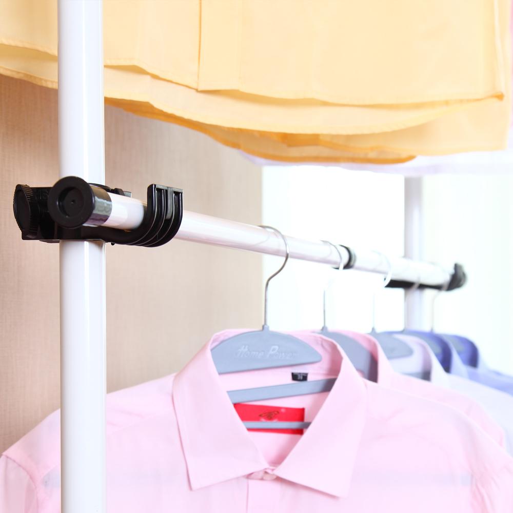 韩式简易布衣柜钢架加固衣帽架挂衣架挂衣柜铁艺架简单衣架衣帽间