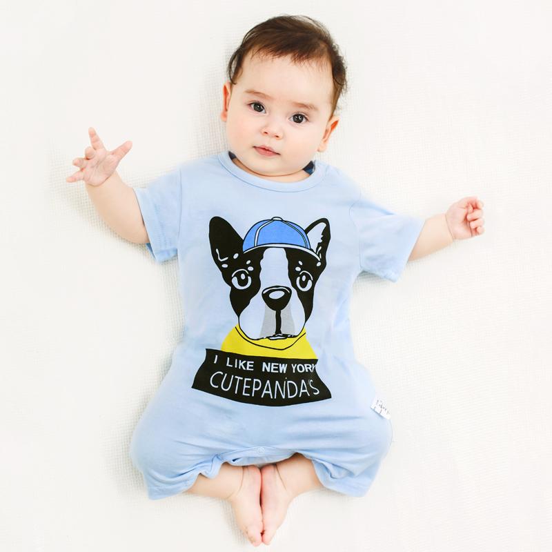 婴儿连体衣服男新生女宝宝6短袖哈衣0岁3个月1岁夏装12睡衣纯棉9