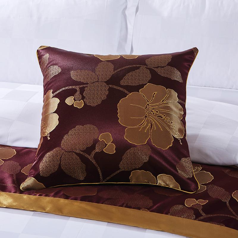 五星酒店宾馆纯棉床上用品60支全棉白色被套贡缎提花被罩包邮
