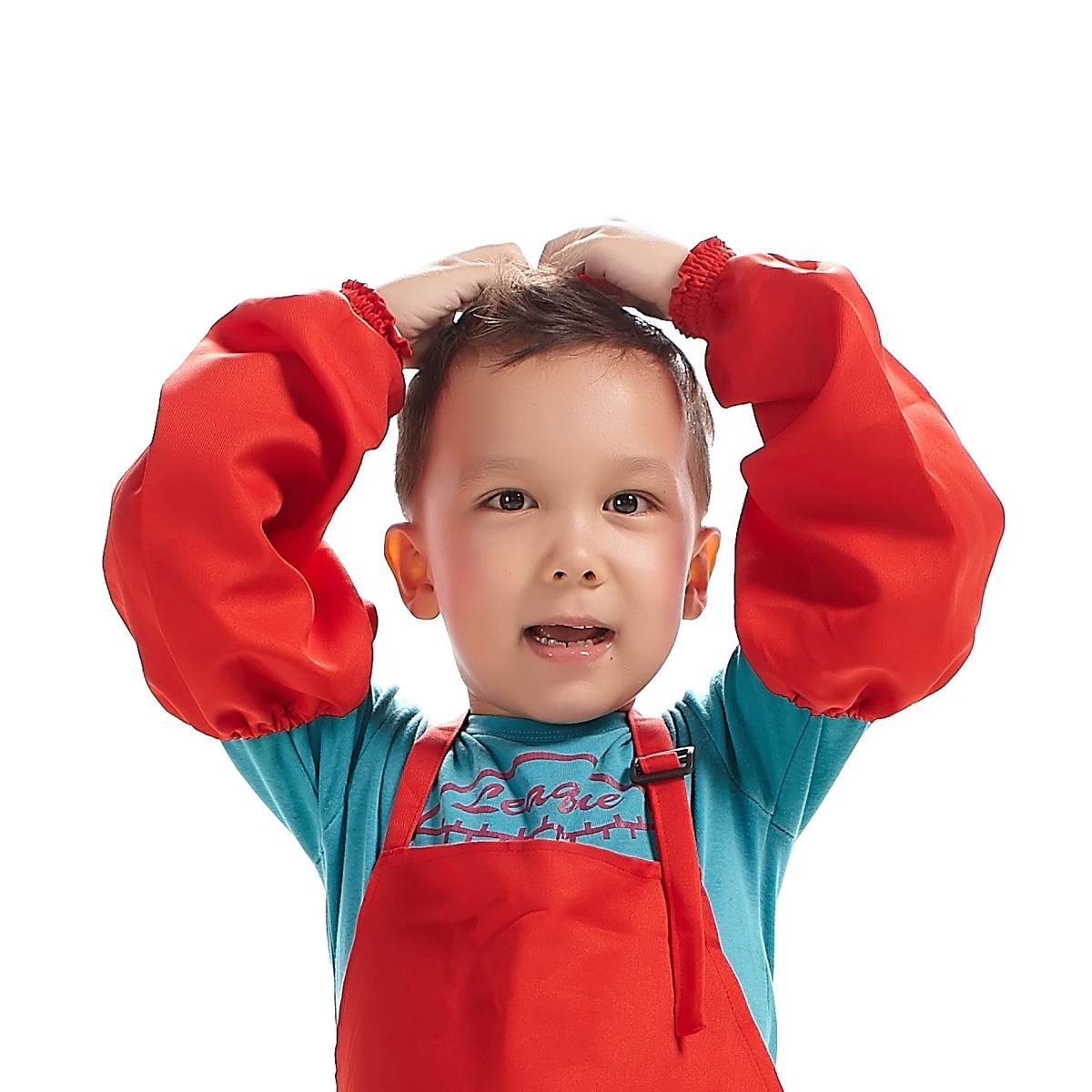 七之莲纯色男女款儿童袖套防污耐脏 中长款简约可爱宝宝套袖88006