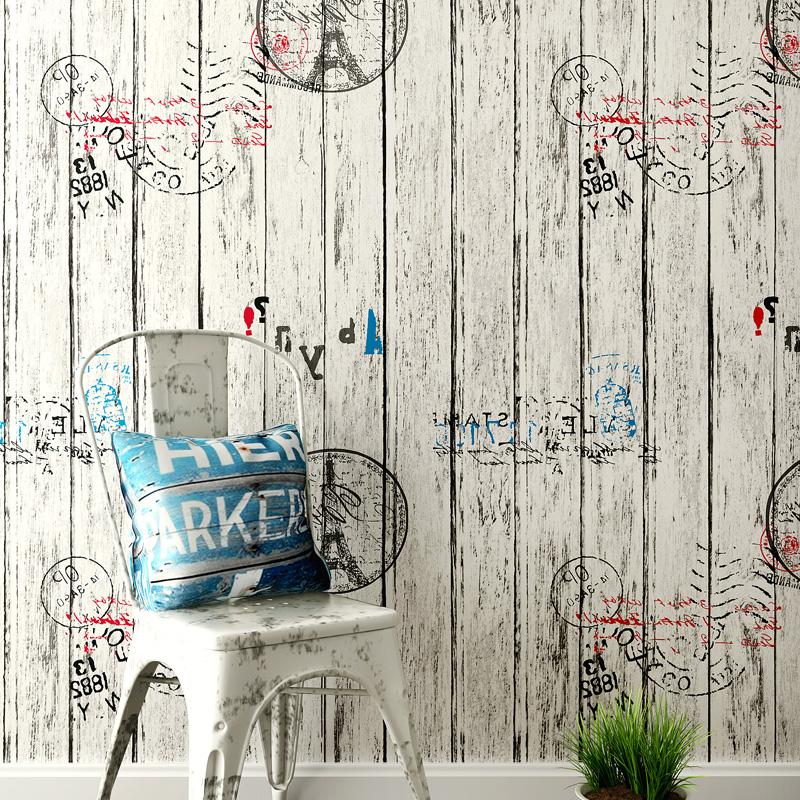 自贴木纹防水防潮壁纸卧室出租房间男生宿舍贴纸 PVC 墙纸自粘寝室