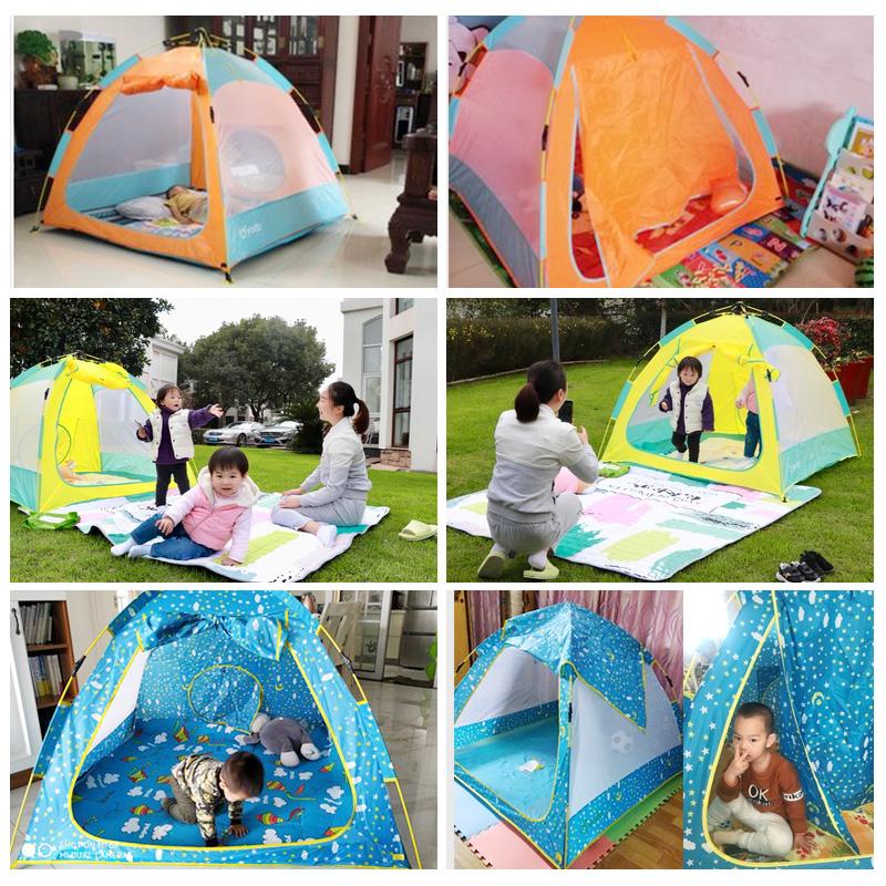 儿童帐篷游戏屋室内公主男孩女孩家用床上玩具小房子分床神器帐篷