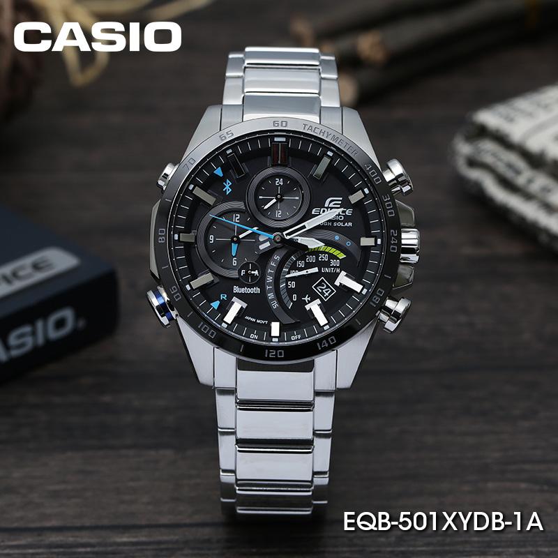 501 正品卡西欧手表男士商务蓝宝石蓝牙太阳光能 EQB 智能石英腕表
