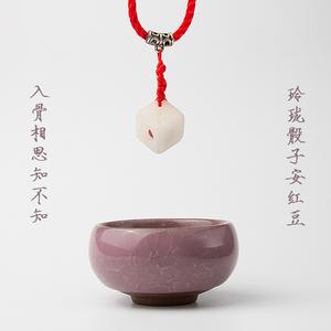 玲珑骰子安红豆手工diy材料包