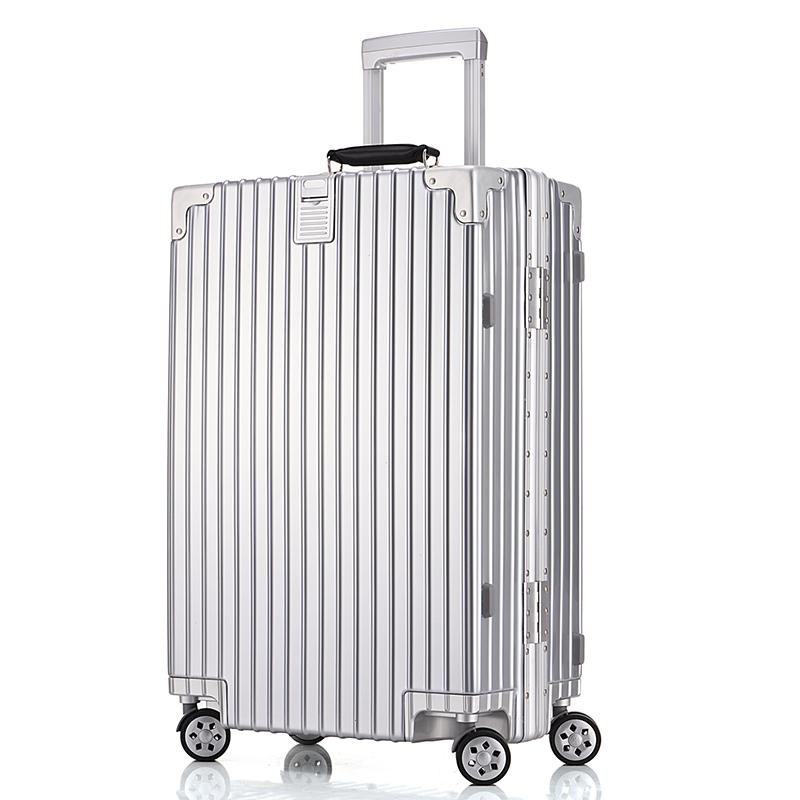 登机箱 22 寸箱子 26 寸密码行李箱男女旅行箱 24 铝框复古拉杆箱万向轮